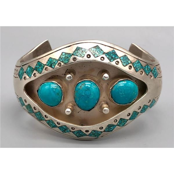 Vintage Tommy Singer Turquoise Bracelet