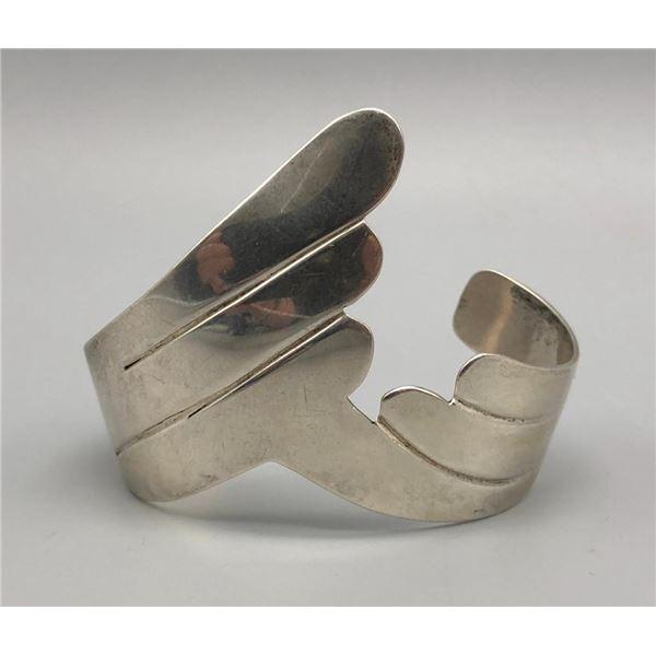 Sterling Silver Bracelet by B. Yazzie