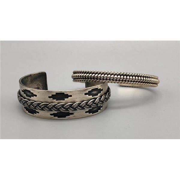 Two Sterling Silver Bracelet