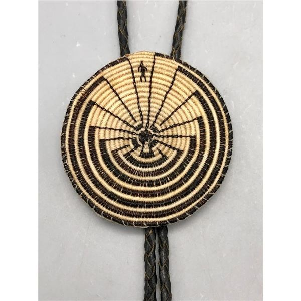Man in the Maze Horsehair Bolo Tie