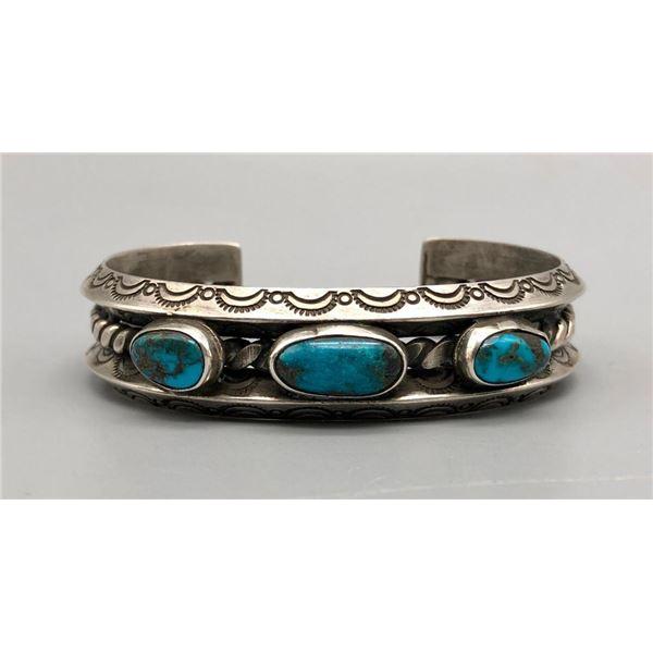 Divine Three Stone Turquoise Bracelet