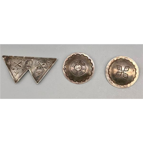 Three Vintage Fred Harvey Era Pins