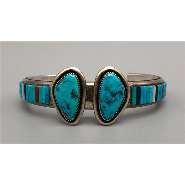 Turquoise Cobblestone Inlay Bracelet
