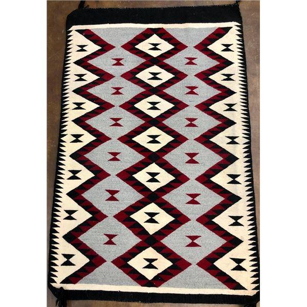 Colorful Diamond Pattern Navajo Textile
