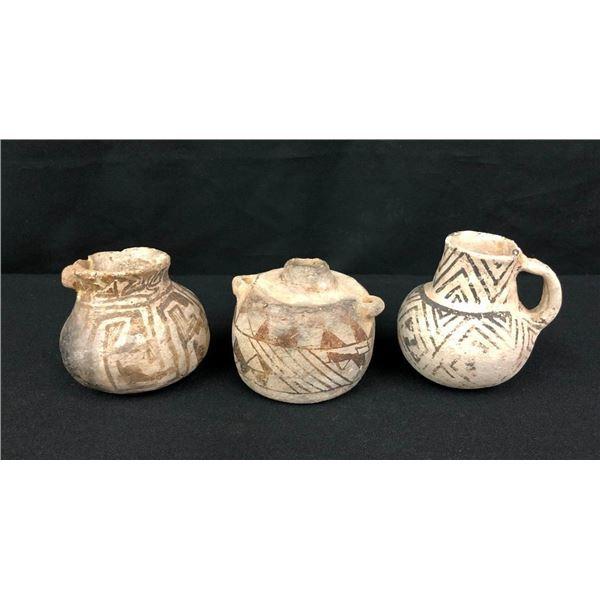 Three Small Anasazi Pottery Jars
