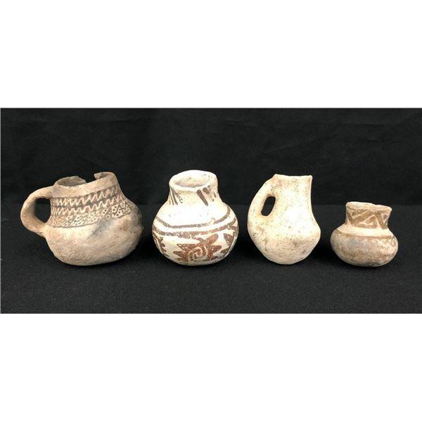 Four Small Anasazi Pottery Jars