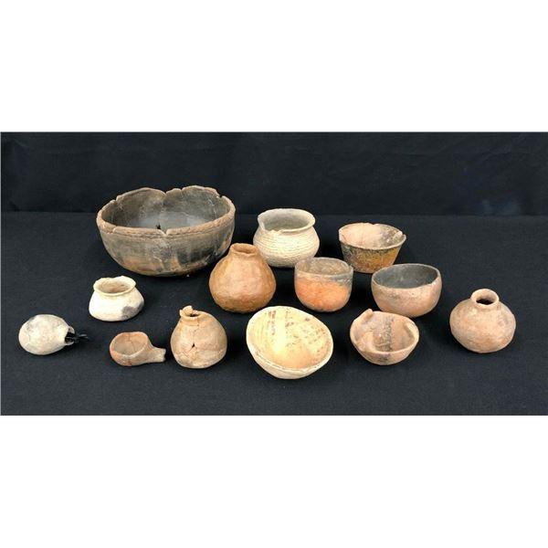 Group of Hohokam Pottery- 13 Pieces
