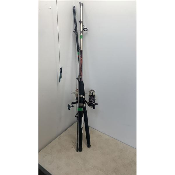 8ft calypso rod and reel with R2F rod and reel