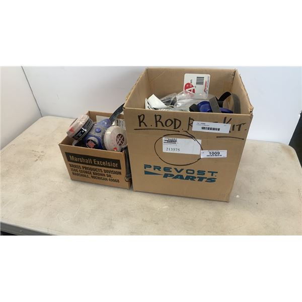 2 boxes of respirators