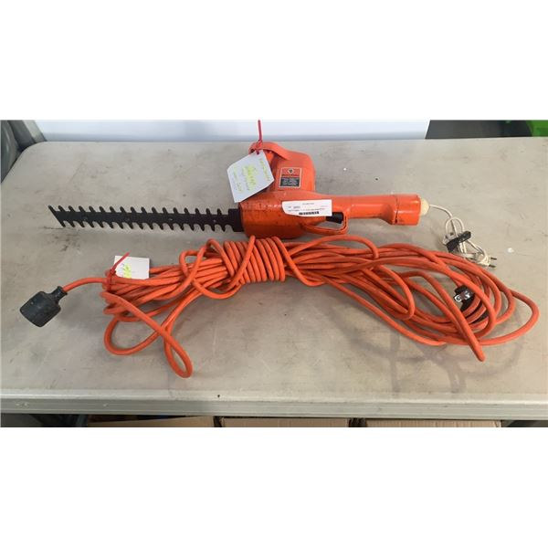 Black & Decker 13 inch double edge hedge trimmer and 50 foot extension cord
