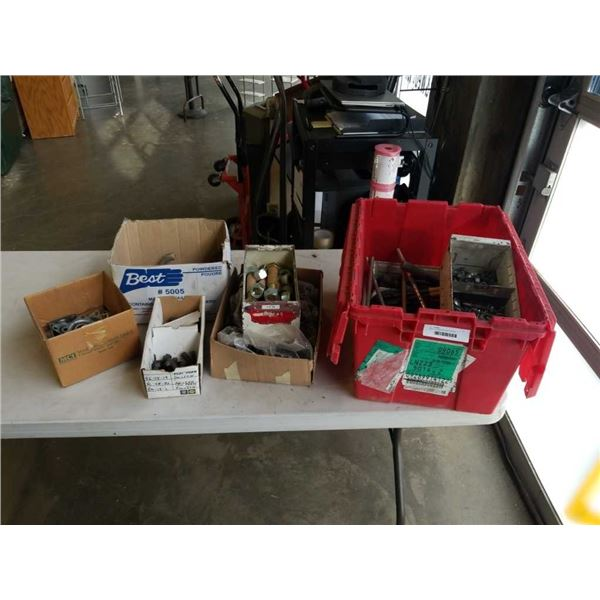 Large lot of large bolts and hardware
