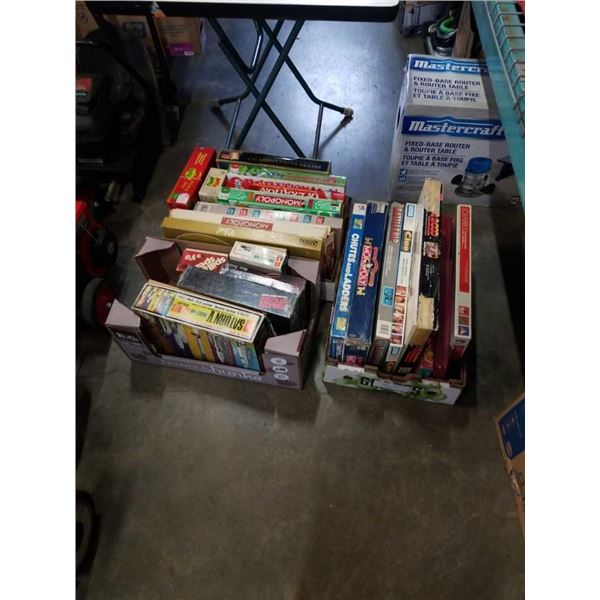 3 boxes of vintage board games
