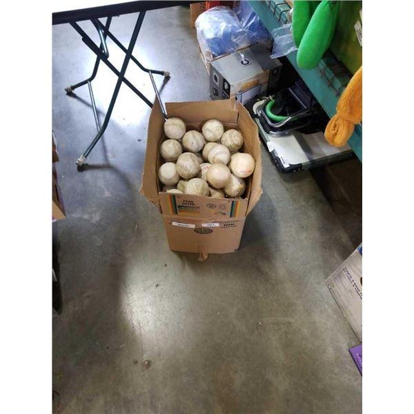 BOX OF SOFTBALLS