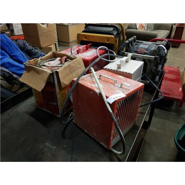 4 ELECTRIC SHOP HEATERS