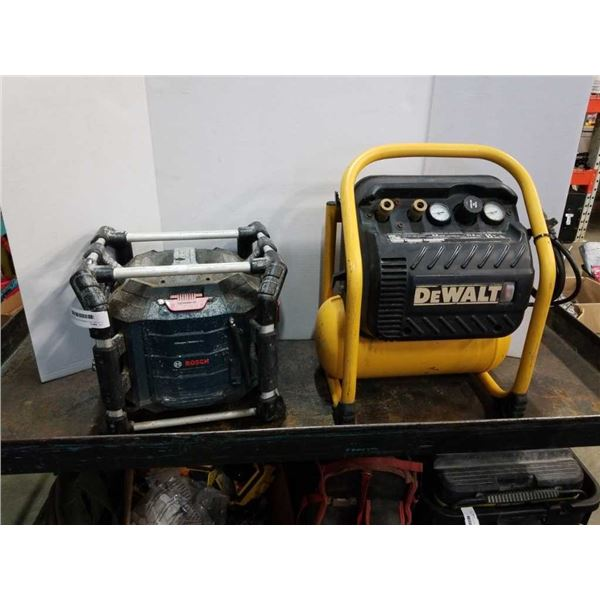 ELECTRIC AIR COMPRESSOR DOESN'T SHUT OFF AND SHOP POWER STATION - RADIO DOES NOT WORK