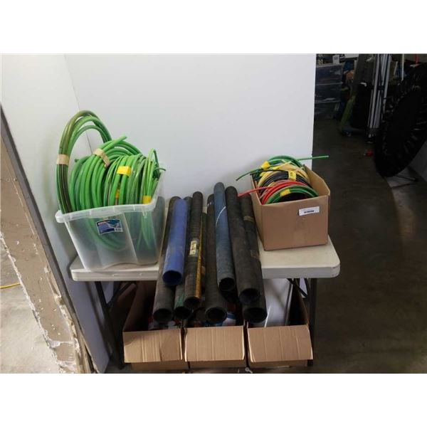 Lot of rubber tubes and water hoses