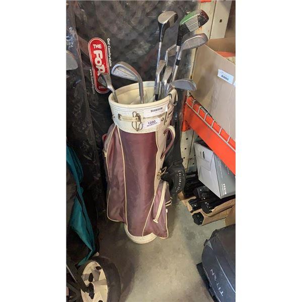Golf bag with wilson RH clubs