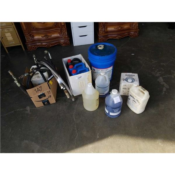 HYDRAULIC FLUID, HOSES AND ANTIFREEZE AND COOLANT, VARIOUS FLUIDS