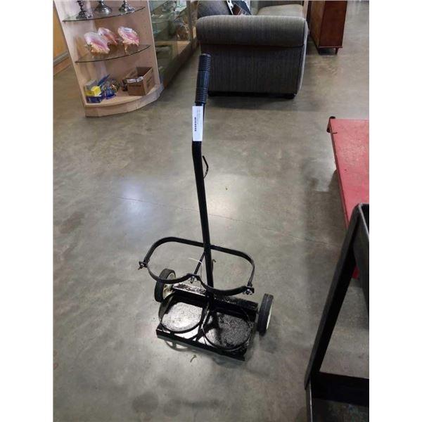 Black oxygen acetylene cart