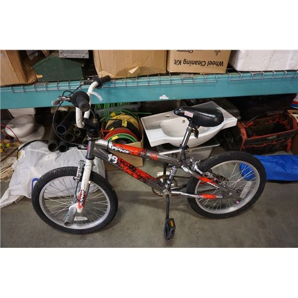 RED BLACK PUNISHER BMX BIKE