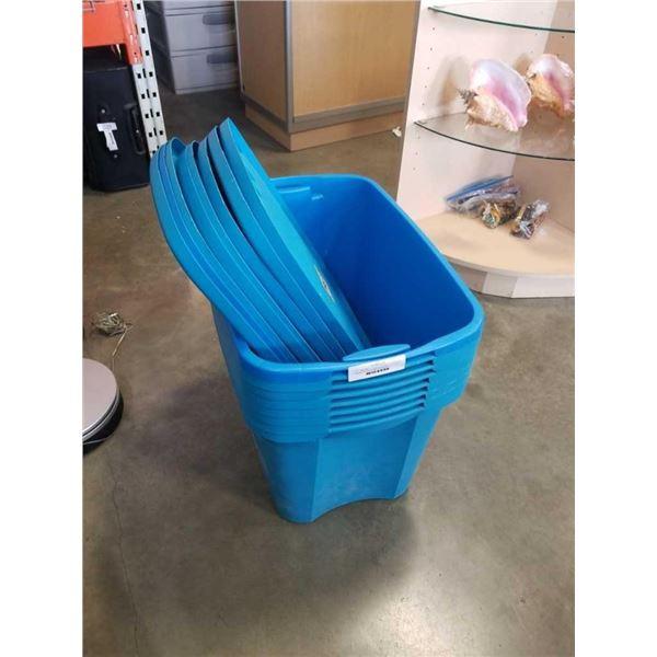 8 Sterilite 18 gallon storage tote with lids