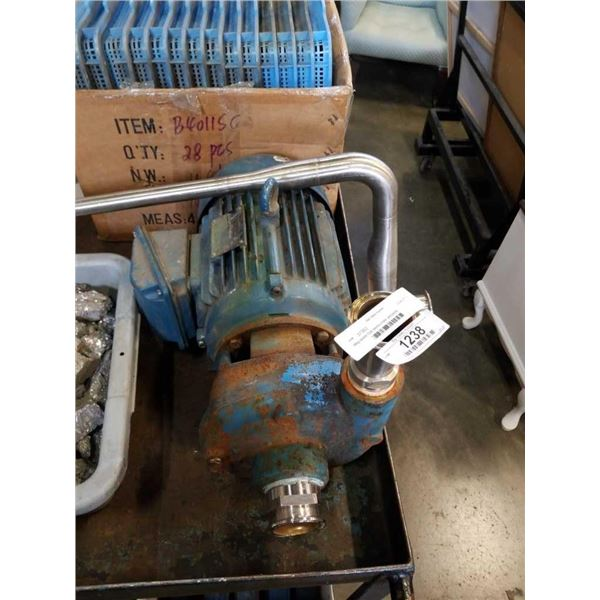 Weg severe Duty electric motor and pump