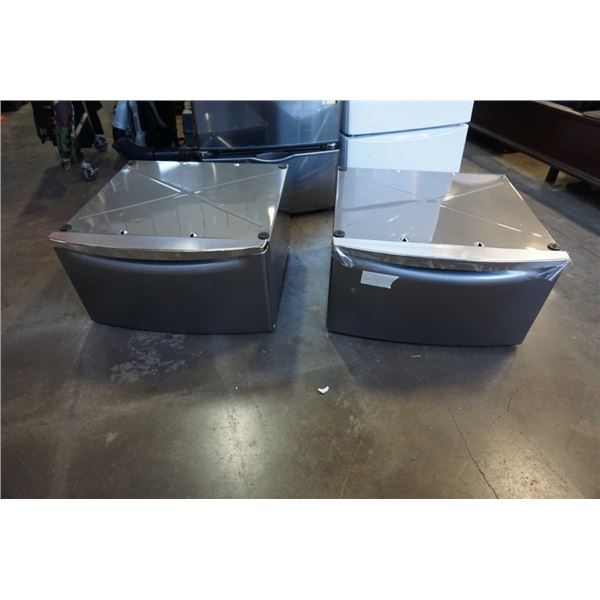 PAIR OF GREY WHIRLPOOL LAUNDRY PEDESTALS