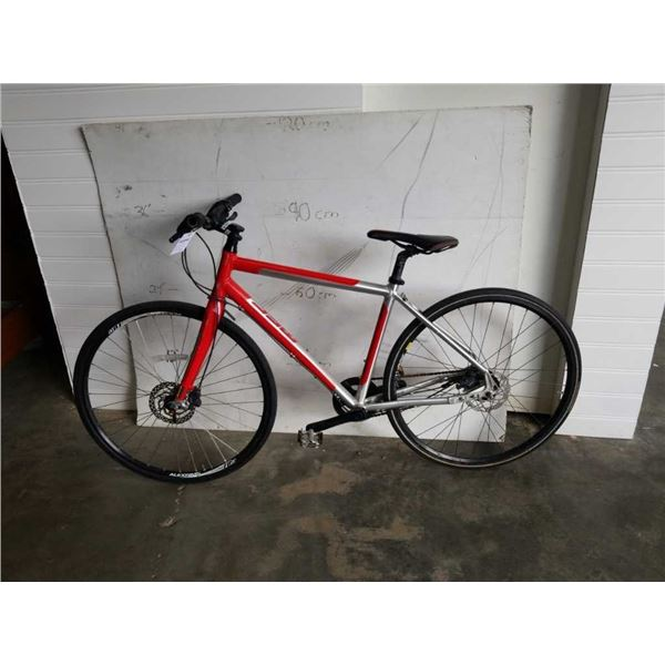 RED AND SILVER MEC BIKE