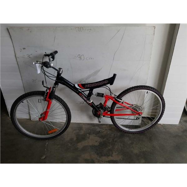 RED AND BLACK KOMODO BIKE