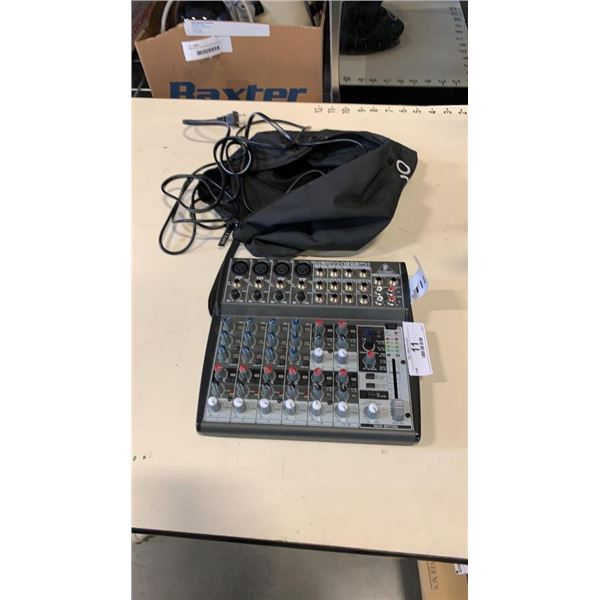 BEHRINGER XENYX 1202 FX MIXING BOARD