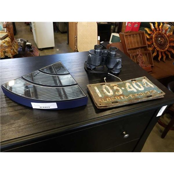 Tento 7 x 35 binoculars with Alberta plates and Swarovski 3Pc decorative mirror