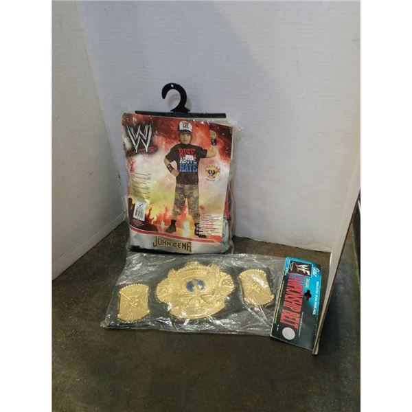New WWE John Cena costume and Championship belt