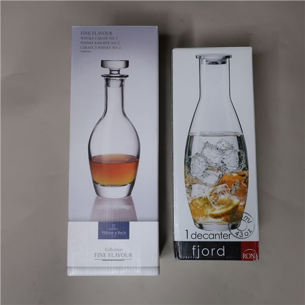 LOT: 2 WHISKY DECANTERS / DÉCANTEURS A WHISKY