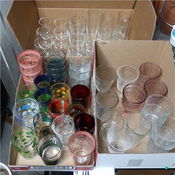 LOT: ASSORTED GLASSES / VERRES ASST