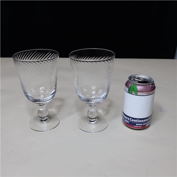 LOT: 57 WINE GLASSES (16 OZ) / VERRES A VIN