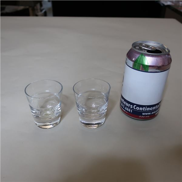 LOT: 35 SHOT GLASSES / VERRES A SHOOTER