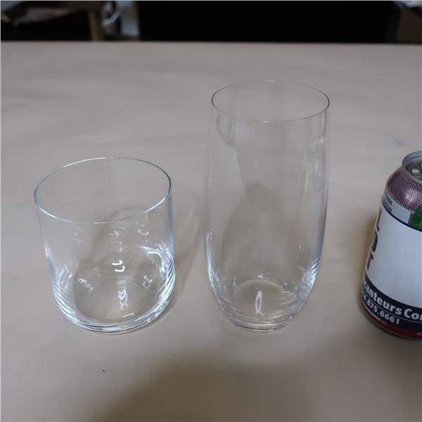 LOT: 24 ASSORTED GLASSES / VERRES ASSORTIS