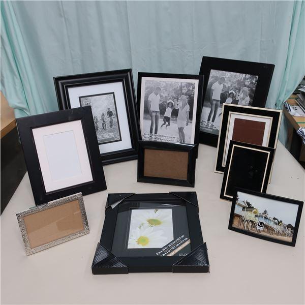 LOT: 10 ASST PICTURE FRAMES / CADRES
