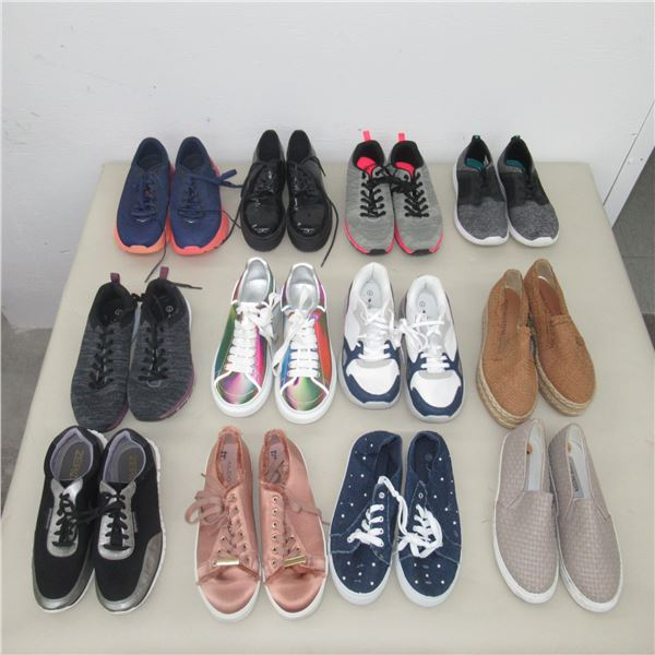 LOT: 12 ASSORTED FOOTWEAR - SIZE: 7