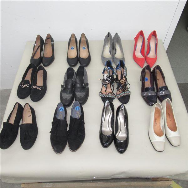LOT: 12 ASSORTED FOOTWEAR - SIZE: 7.5