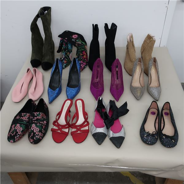 LOT: 12 ASSORTED FOOTWEAR - SIZE: 8-8.5