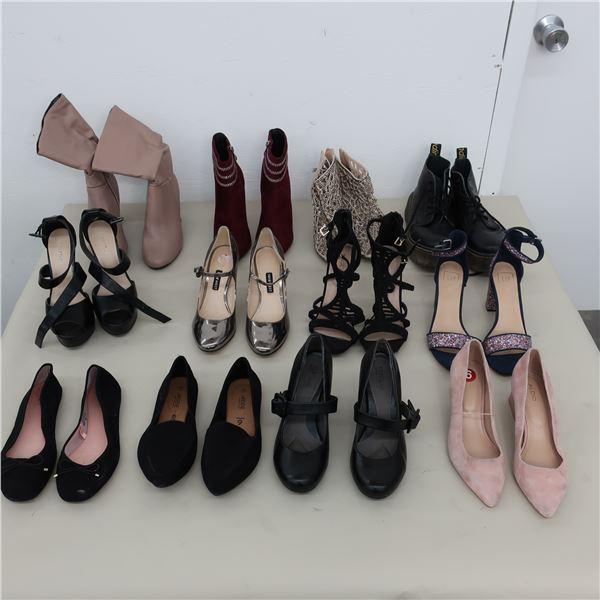 LOT: 12 ASSORTED FOOTWEAR - SIZE: 6-6.5