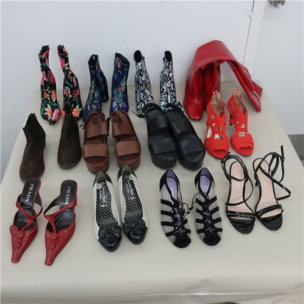 LOT: 12 ASSORTED FOOTWEAR - SIZE: 7-7.5