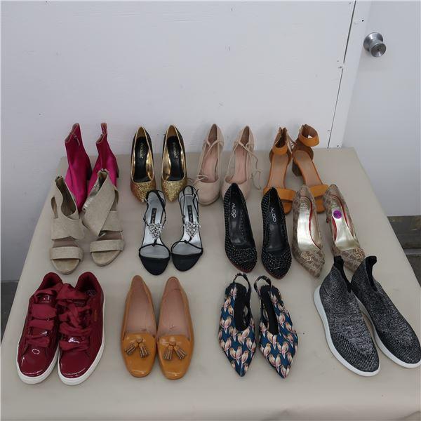 LOT: 12 ASSORTED WOMEN FOOTWEAR  - SIZE: 8-8.5