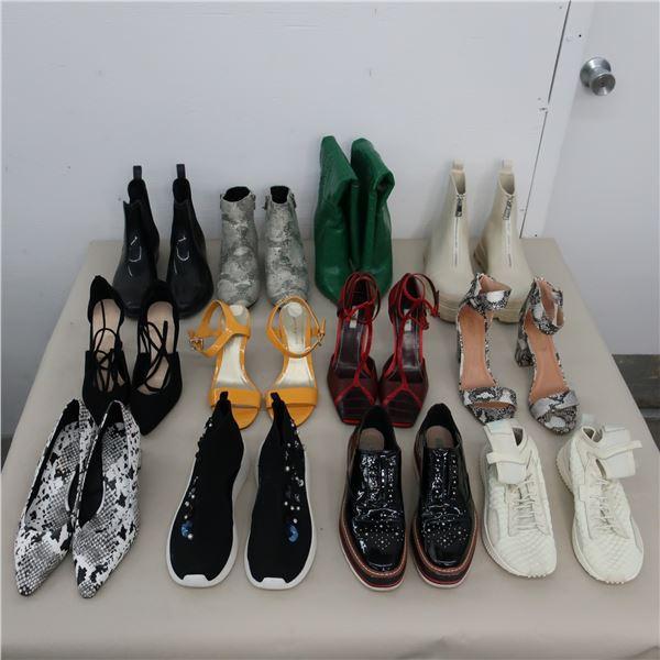 LOT: 12 ASSORTED WOMEN FOOTWEAR  - SIZE: 8.5-9