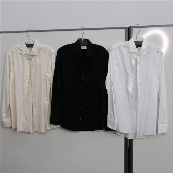 LOT: 3 MEN SHIRTS, SIZE: 15.5 -ETON,V.CAMUTO