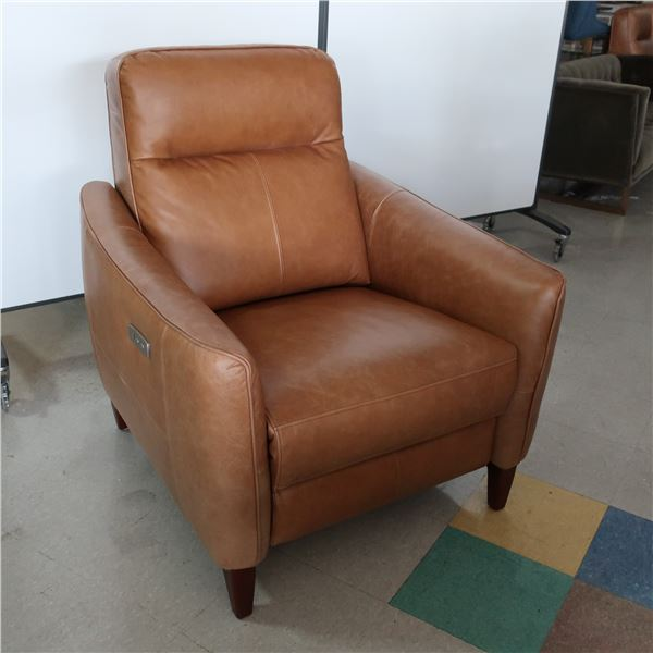 ELECTRIC RECLINER TAN LEATHER