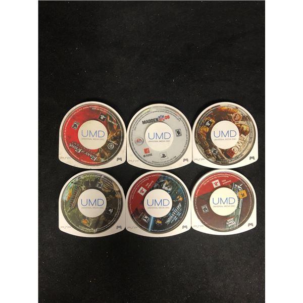 PSP UNIVERSAL MEDIA DISC LOT