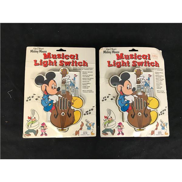 (2X) WALT DISNEY'S: MICKEY MOUSE MUSICAL LIGHT SWITCH