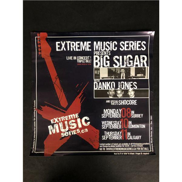 MULTI SIGNED EXTREME MUSIC SERIES POSTER w/ GORDIE JOHNSON, DANKO JONES + MORE...